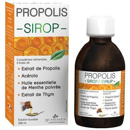 Les 3 Chênes Propolisový sirup s tymiánem 200 ml