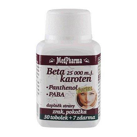 MedPharma Beta karoten 25 000 m.j. s Panthenolem + PABA, 37 tbl.
