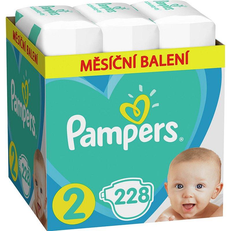 PAMPERS Active Baby jednorázové pleny vel. 2, 228 ks, 4-8 kg
