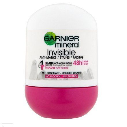 Garnier Invisible Black White Colors Minerální deodorant 50 ml