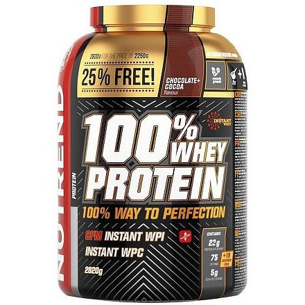 NUTREND 100% Whey Protein banán 900g