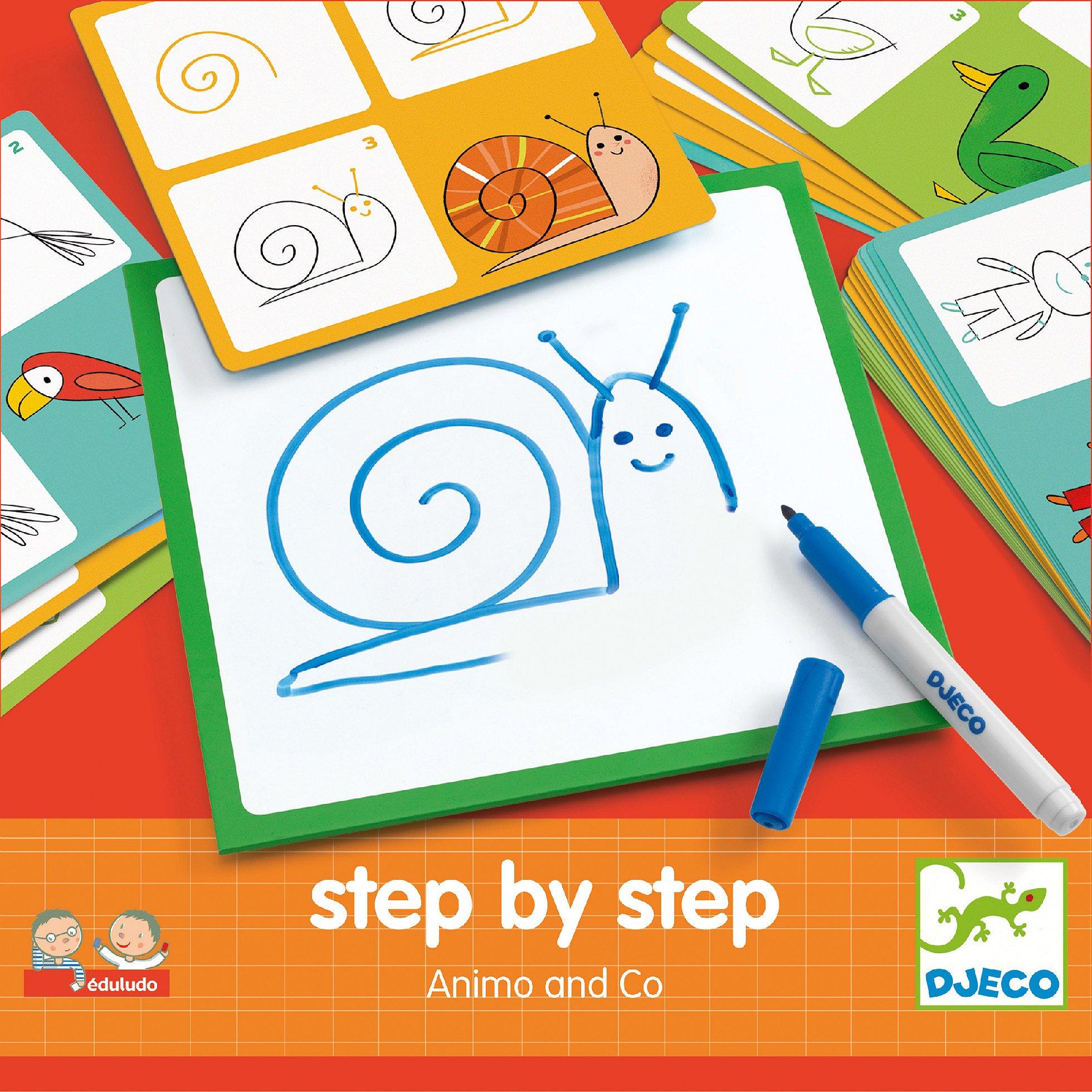 Djeco Krok za krokem zvířátka